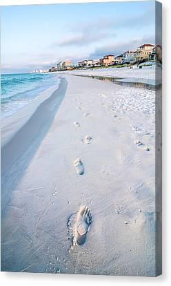 Florida Beach Scene Canvas Print by Alex Grichenko