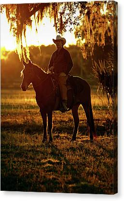 Florida Cracker, Chuck Luzier Canvas Print by Maresa Pryor