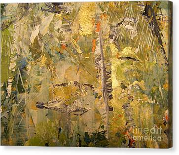 Canvas Print featuring the painting Florida Feather by Nancy Kane Chapman