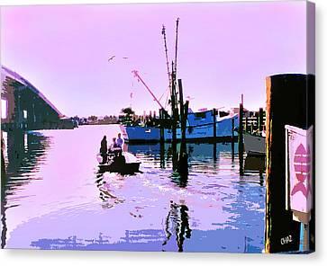 Florida Fishing Dock Canvas Print
