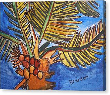 Canvas Print featuring the painting Florida Palm by Artists With Autism Inc