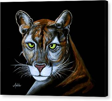 Florida Panther Jeremiah Canvas Print by Adele Moscaritolo