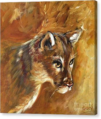 Florida Panther Canvas Print by Karen  Ferrand Carroll