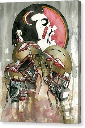 Florida State Seminoles Canvas Print by Michael  Pattison