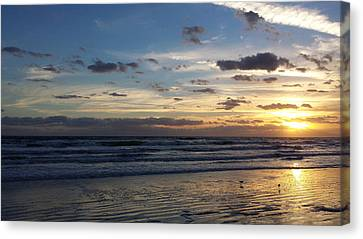 Canvas Print featuring the photograph Florida Sunrise by Ally  White