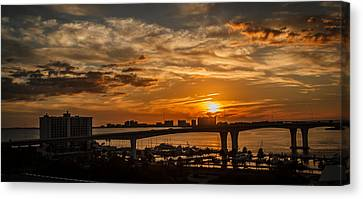 Canvas Print featuring the photograph Florida Sunset by Jane Luxton