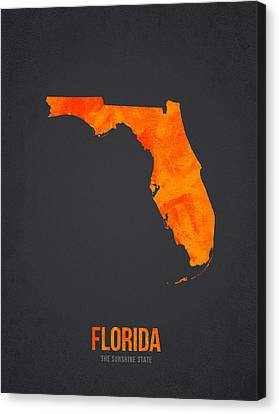 Florida The Sunshine State Canvas Print by Aged Pixel