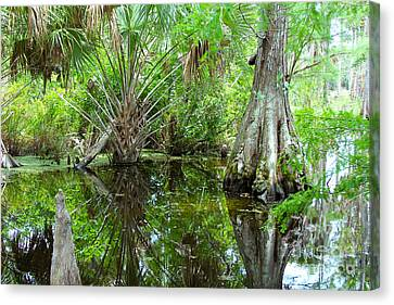 Crawfish Canvas Print - Florida Wetland by Carey Chen