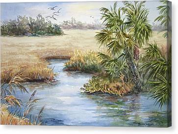 Canvas Print featuring the painting Florida Wilderness IIi by Roxanne Tobaison