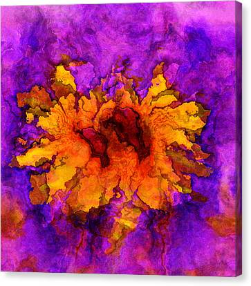 Floro - 45b Canvas Print by Variance Collections