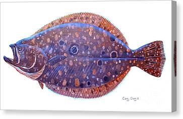 Salmon Canvas Print - Flounder by Carey Chen