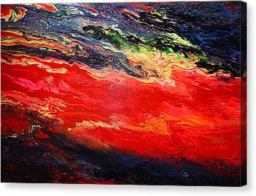 Canvas Print featuring the painting Flow #1.abstract by Viktor Lazarev