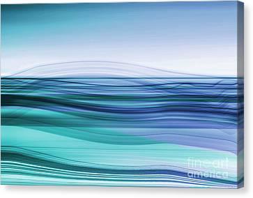 Hannes Cmarits Canvas Print - Flow - Cyan Blue by Hannes Cmarits