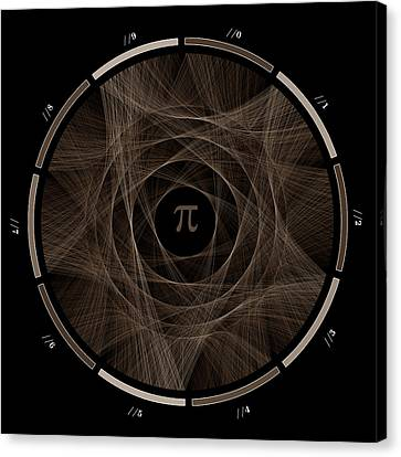 Flow Of Life Flow Of Pi #2 Canvas Print