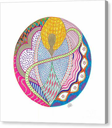 Meditation Canvas Print - Flow by Signe  Beatrice