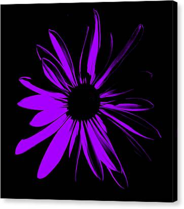 Canvas Print featuring the digital art Flower 10 by Maggy Marsh
