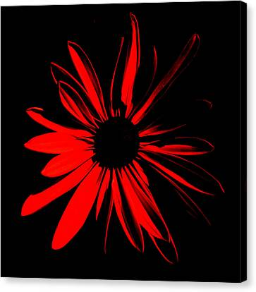 Canvas Print featuring the digital art Flower 2 by Maggy Marsh