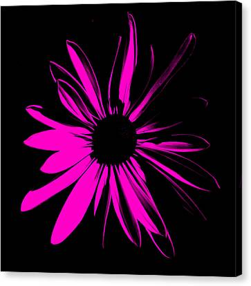 Canvas Print featuring the digital art Flower 6 by Maggy Marsh