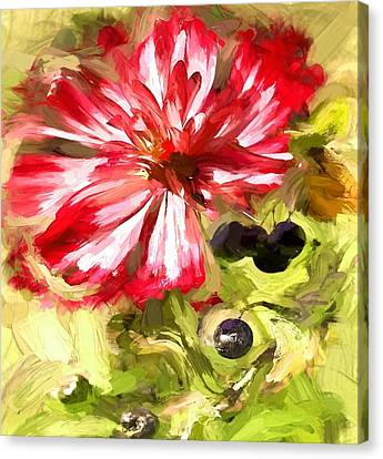 Flower And Berries Canvas Print by Yury Malkov