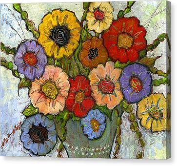 Flower Bouquet Canvas Print by Blenda Studio