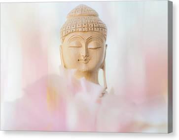 Flower Buddha 2 Canvas Print by Jenny Rainbow