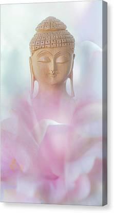 Flower Buddha Canvas Print by Jenny Rainbow