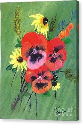 Flower Bunch Canvas Print by Francine Heykoop