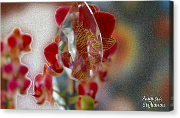 Fuschia Canvas Print - Flower Cubism by Augusta Stylianou