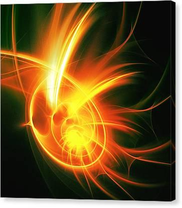 Flower Energy Canvas Print by Anastasiya Malakhova