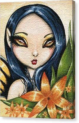 Flower Fairy Kasumi Canvas Print by Elaina  Wagner