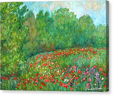Flower Field Canvas Print by Kendall Kessler