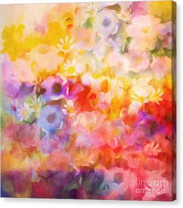 Flower Fiesta Canvas Print by Lutz Baar