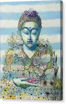 Canvas Print - Flower Garden Buddha by Andrea Benson