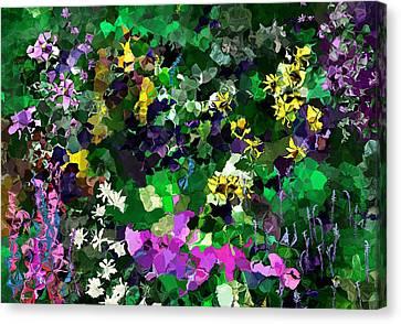 Canvas Print featuring the digital art Flower Garden by David Lane