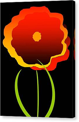 Canvas Print featuring the digital art Flower by Gayle  Thomas