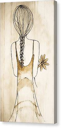 Flower Girl 3 Canvas Print by Anne Costello