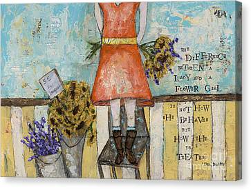 Flower Girl Canvas Print by Kirsten Reed