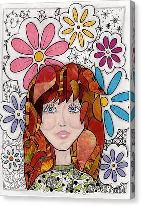 Flower Girl Canvas Print by Paula Dickerhoff