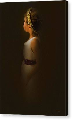 Flower Girl Canvas Print by Theresa Tahara