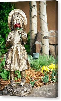 Flower Girl Canvas Print by Vinnie Oakes