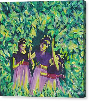 Flower Girls Canvas Print