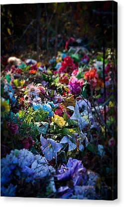 Flower Graveyard Canvas Print
