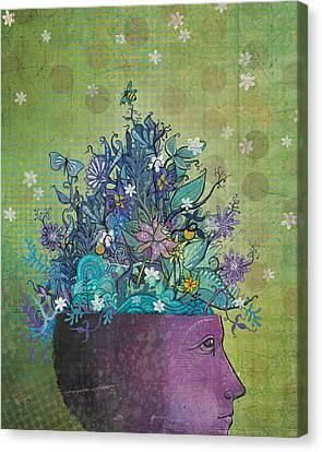 Flower-head1 Canvas Print by Dennis Wunsch