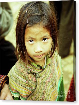 Flower Hmong Girl 02 Canvas Print by Rick Piper Photography
