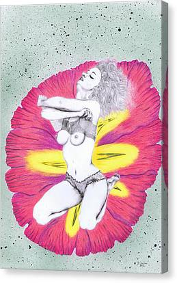 Canvas Print featuring the mixed media Flower. by Kenneth Clarke