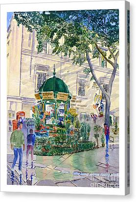 Flower Kiosk Canvas Print