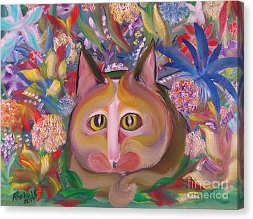 Flower Kitty Canvas Print