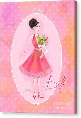 Flower Ladies-belle Canvas Print