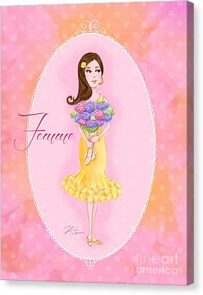 Flower Ladies-femme Canvas Print
