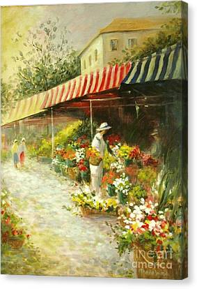 Flower Market Canvas Print by Madeleine Holzberg